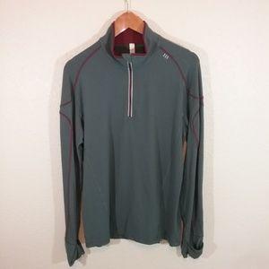 Lululemon Men's 1/2 Zip Long Sleeve Pullover Gray